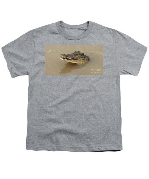 Salt Water Crocodile 3 Youth T-Shirt by Bob Christopher