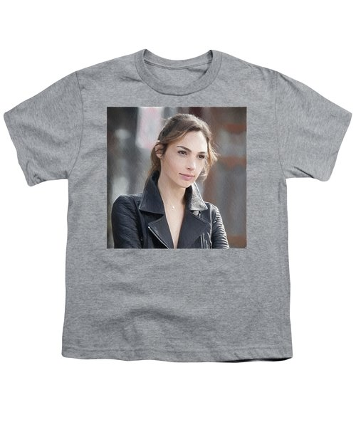 Gal Gadot Art Youth T-Shirt by Best Actors