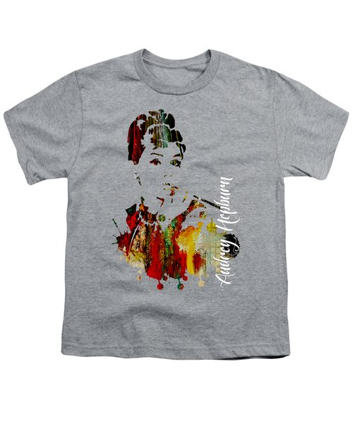 Audrey Hepburn Collection Youth T-Shirt by Marvin Blaine