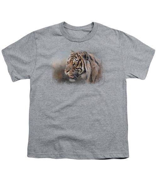 Alert Bengal Youth T-Shirt by Jai Johnson