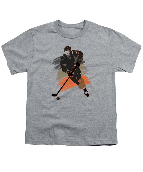 Anaheim Ducks Player Shirt Youth T-Shirt by Joe Hamilton