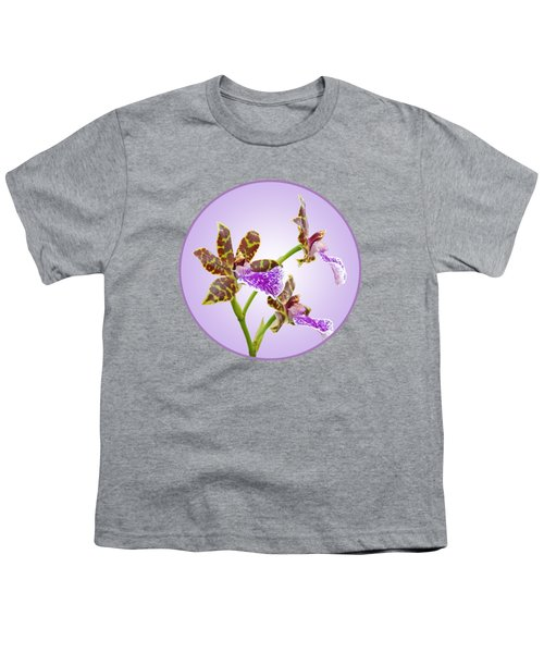 Bold And Beautiful - Zygopetalum Orchid Youth T-Shirt by Gill Billington