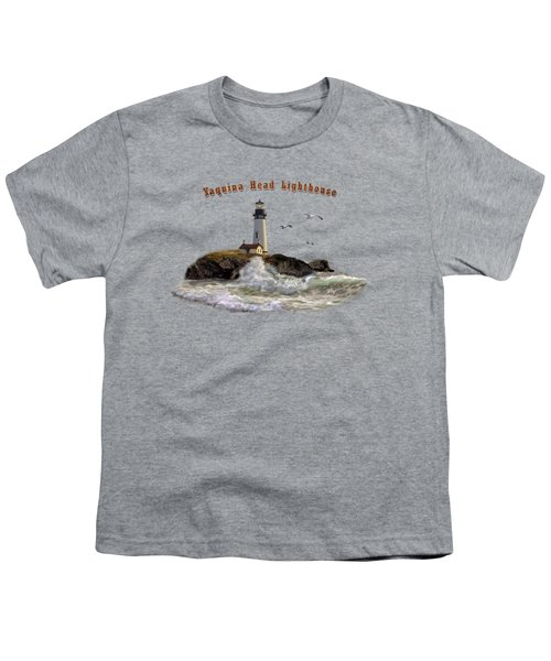 Oregon Lighthouse Beam Of Hope Youth T-Shirt by Regina Femrite