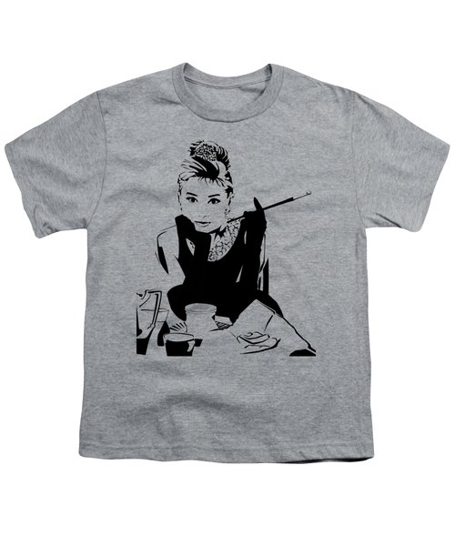 Audrey Hepburn Youth T-Shirt by Ryan Burton