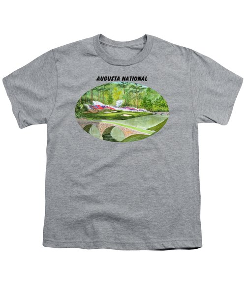 Augusta National Golf Course With Banner Youth T-Shirt by Bill Holkham