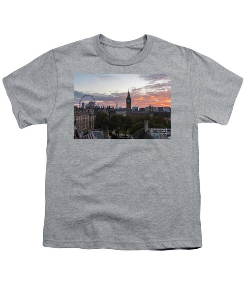 Big Ben London Sunrise Youth T-Shirt by Mike Reid