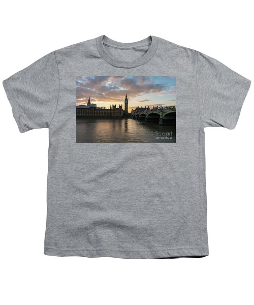 Big Ben London Sunset Youth T-Shirt by Mike Reid