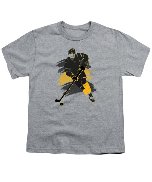 Boston Bruins Player Shirt Youth T-Shirt by Joe Hamilton