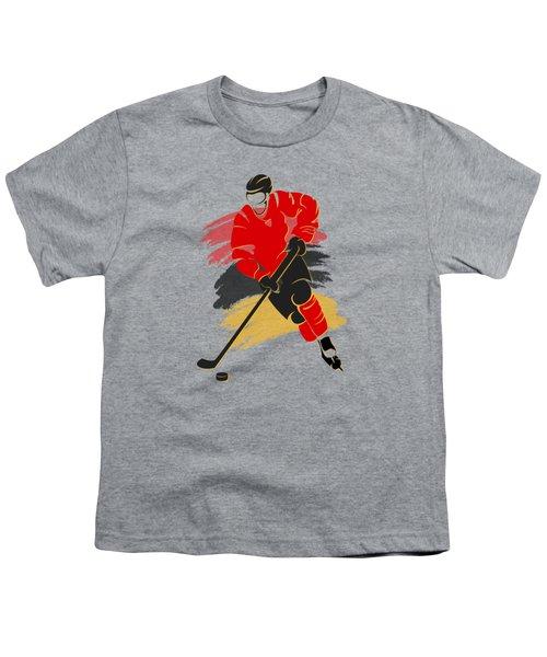 Calgary Flames Player Shirt Youth T-Shirt by Joe Hamilton