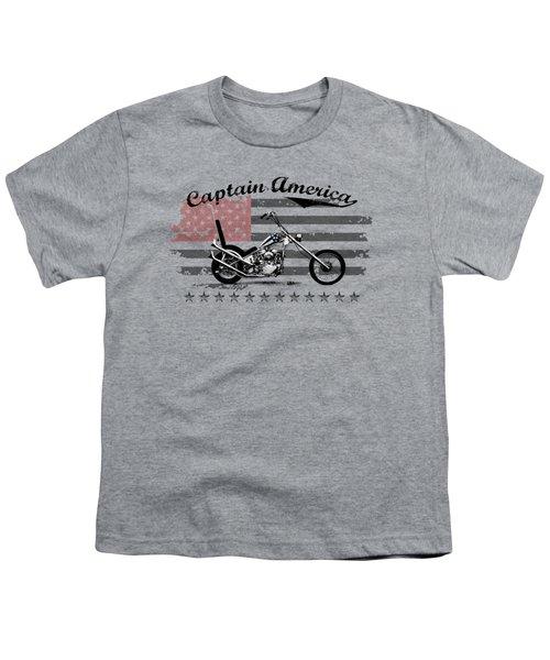 Captain America Youth T-Shirt by Mark Rogan