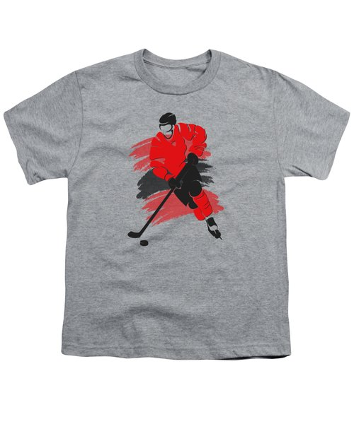 Chicago Blackhawks Player Shirt Youth T-Shirt by Joe Hamilton