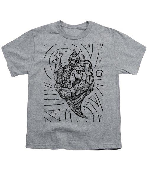Chicken Master Youth T-Shirt by Erki Schotter
