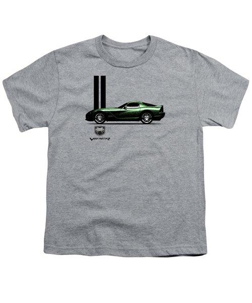 Dodge Viper Snake Green Youth T-Shirt by Mark Rogan