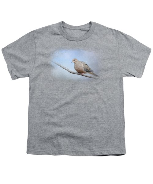 Dove In The Snow Youth T-Shirt by Jai Johnson