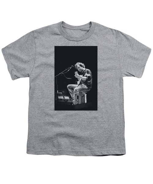Eddie Vedder Playing Live Youth T-Shirt by Marco Oliveira