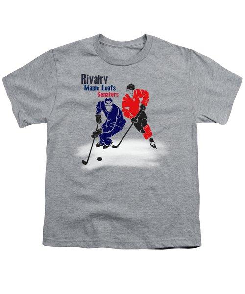 Hockey Rivalry Maple Leafs Senators Shirt Youth T-Shirt by Joe Hamilton