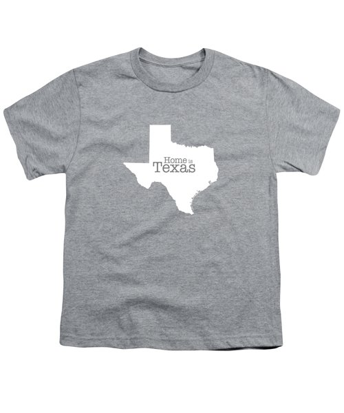 Home Is Texas Youth T-Shirt by Bruce Stanfield