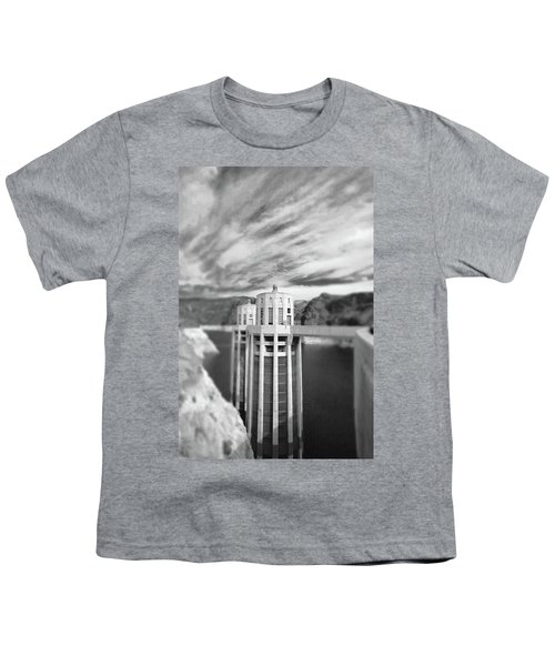 Hoover Dam Intake Towers No. 1-1 Youth T-Shirt by Sandy Taylor