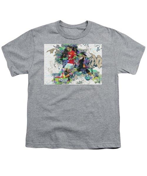 Ibrahimovic Street Art Youth T-Shirt by Don Kuing