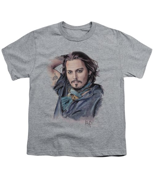 Johnny Depp Youth T-Shirt by Melanie D