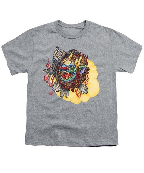 Kirin Head Ranchu Youth T-Shirt by Shih Chang Yang