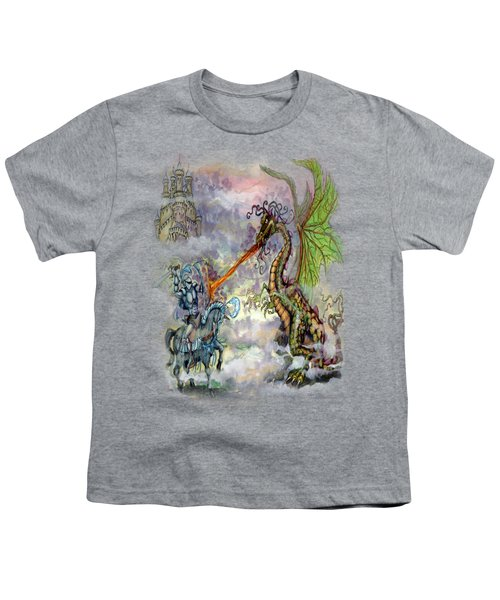Knights N Dragons Youth T-Shirt by Kevin Middleton