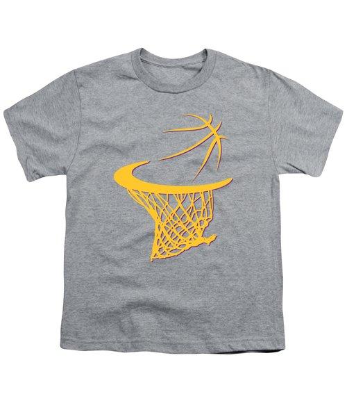 Lakers Basketball Hoop Youth T-Shirt by Joe Hamilton