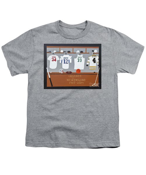 Legends Of New England Youth T-Shirt by Dennis ONeil