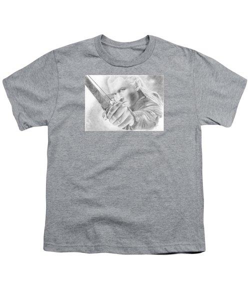 Legolas Greenleaf Youth T-Shirt by Bitten Kari