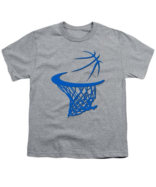 Magic Basketball Hoop Youth T-Shirt by Joe Hamilton