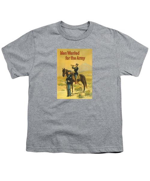 Men Wanted For The Army Youth T-Shirt by War Is Hell Store