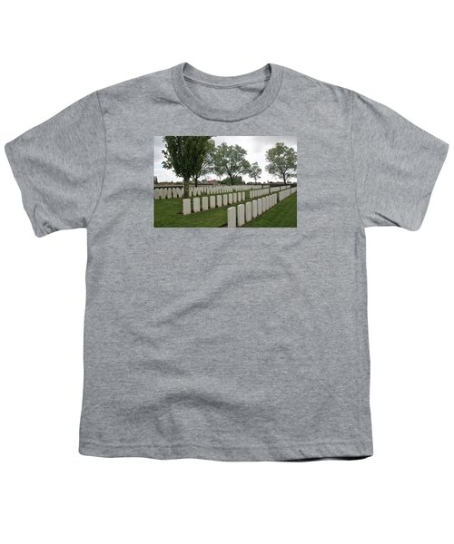 Youth T-Shirt featuring the photograph Messines Ridge British Cemetery by Travel Pics