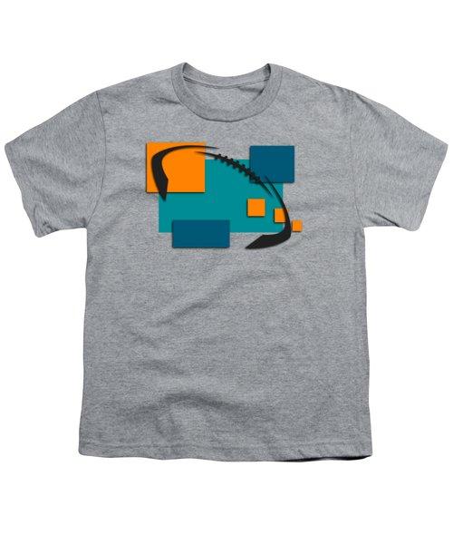 Miami Dolphins Abstract Shirt Youth T-Shirt by Joe Hamilton