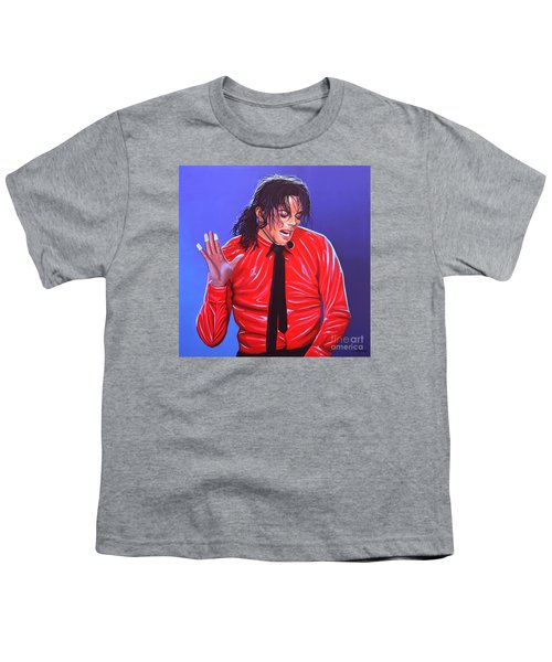 Michael Jackson 2 Youth T-Shirt by Paul Meijering