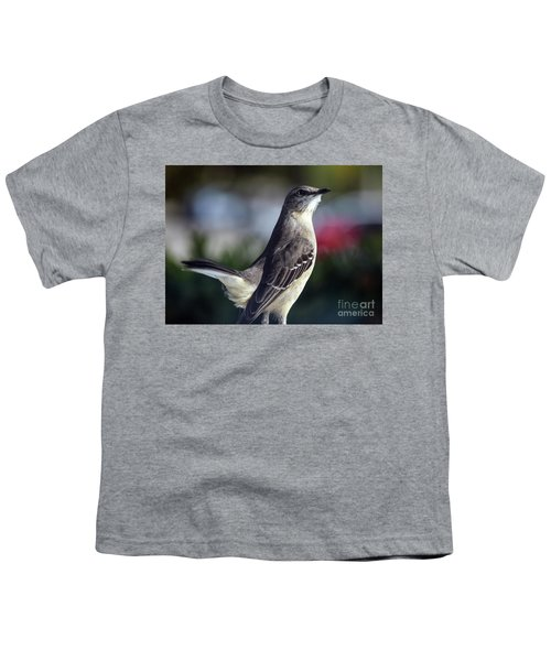 Northern Mockingbird Up Close Youth T-Shirt by William Tasker