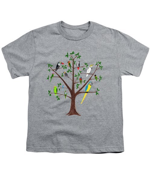 Parrot Tree Youth T-Shirt by Rita Palmer