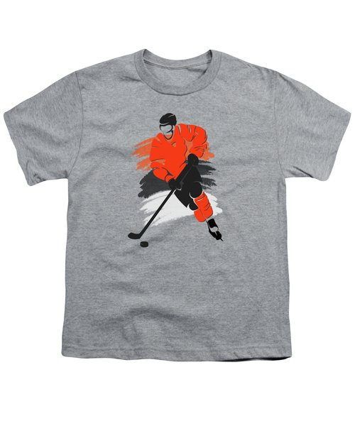 Philadelphia Flyers Player Shirt Youth T-Shirt by Joe Hamilton