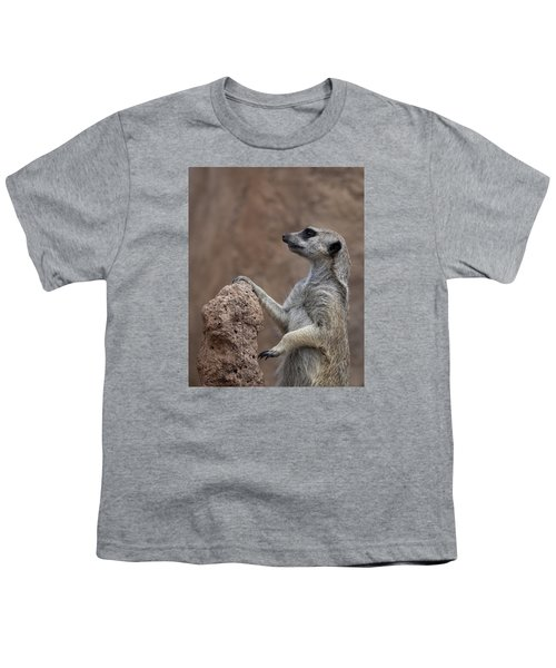 Pose Of The Meerkat Youth T-Shirt by Ernie Echols