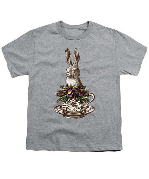 Rabbit In A Teacup Youth T-Shirt by Eclectic at HeART