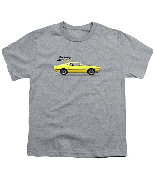 Shelby Mustang Gt350 1969 Youth T-Shirt by Mark Rogan