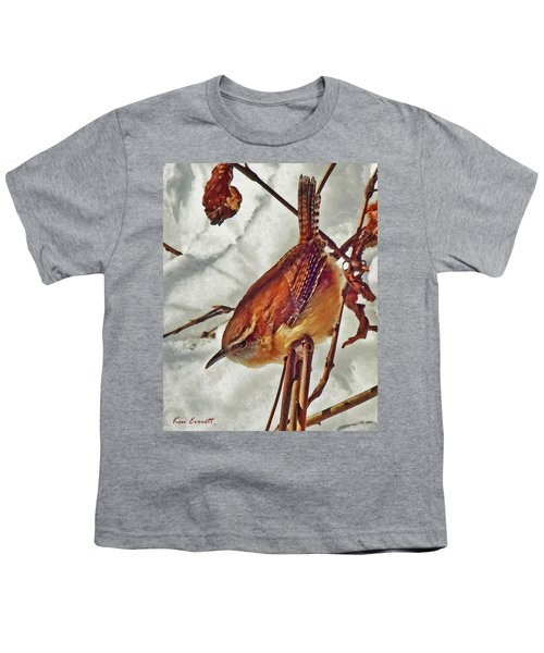 Slim Pickens, Carolina Wren Youth T-Shirt by Ken Everett