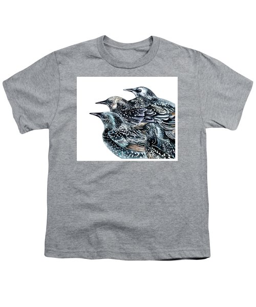 Starlings Youth T-Shirt by Marie Burke