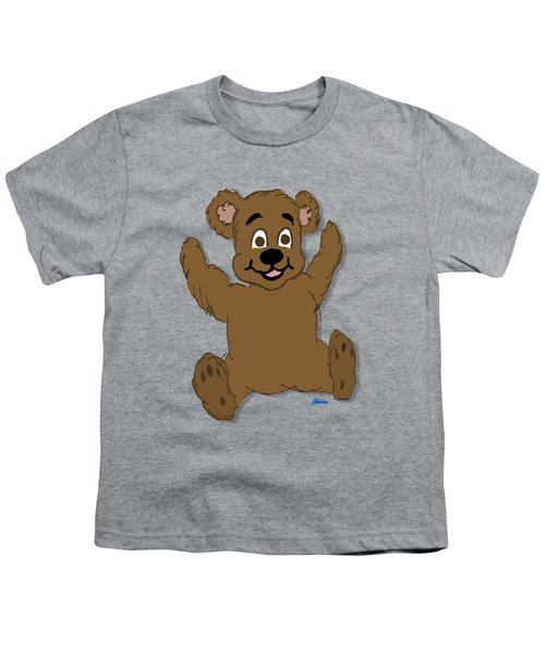 Teddy's First Portrait Youth T-Shirt by Pharris Art