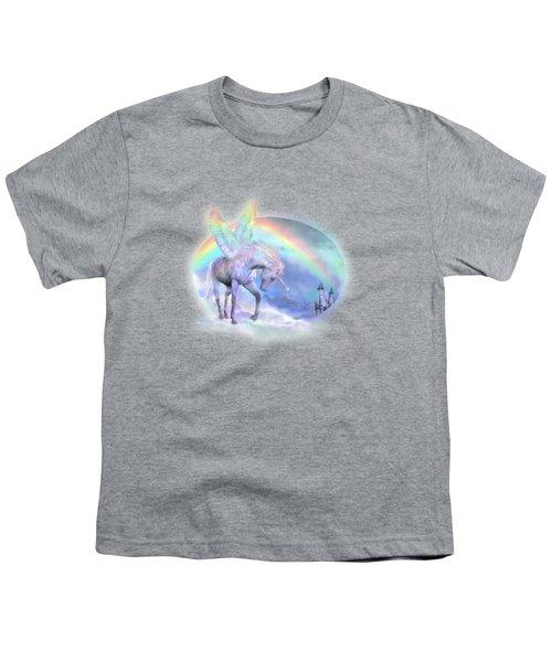 Unicorn Of The Rainbow Youth T-Shirt by Carol Cavalaris