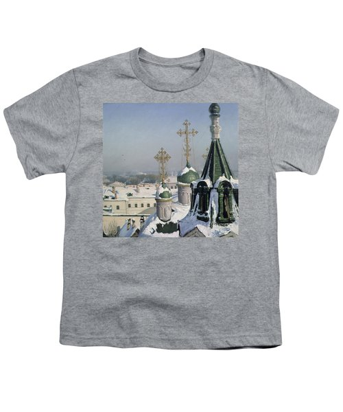 View From A Window Of The Moscow School Of Painting Youth T-Shirt by Sergei Ivanovich Svetoslavsky