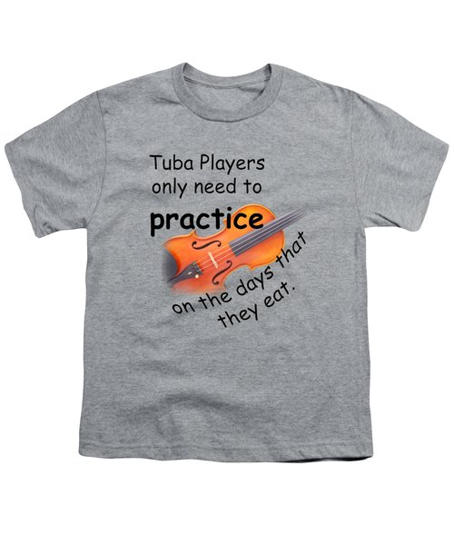 Violins Practice When They Eat Youth T-Shirt by M K  Miller