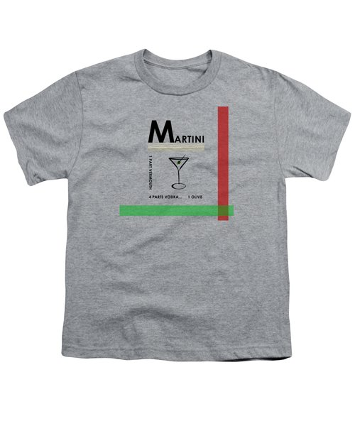Vodka Martini Youth T-Shirt by Mark Rogan