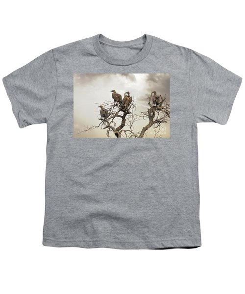 Vultures In A Dead Tree.  Youth T-Shirt by Jane Rix