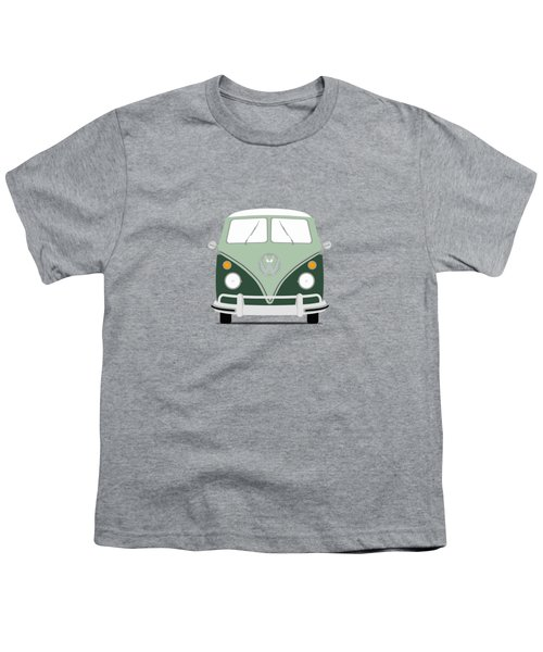 Vw Bus Green Youth T-Shirt by Mark Rogan