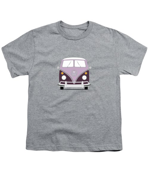 Vw Bus Purple Youth T-Shirt by Mark Rogan